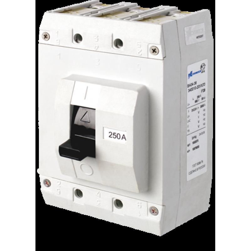 Автоматические выключатели ВА04-36 до 400А