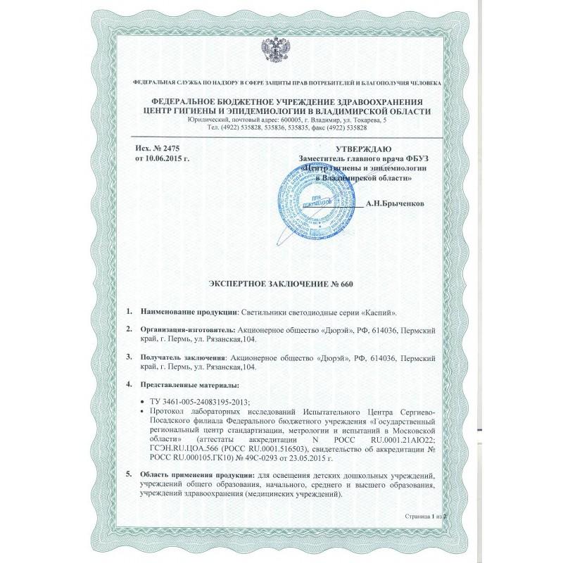 Каспий 64.3600.32 Защита IP65