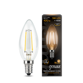 Gauss Filament Candle E14 5Вт 2700К