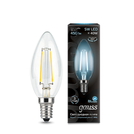 Gauss Filament Candle E14 5Вт 4100К
